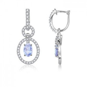 Oval-Tanzanite-and-Diamond-Hoop-Earrings-in-14K-White-Gold