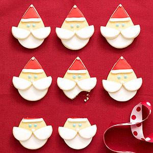 Santa Face Cookies