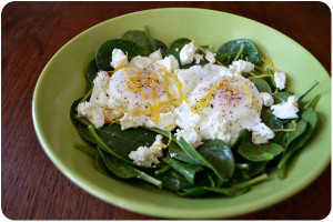 Spinach and Egg Breakfast Salad