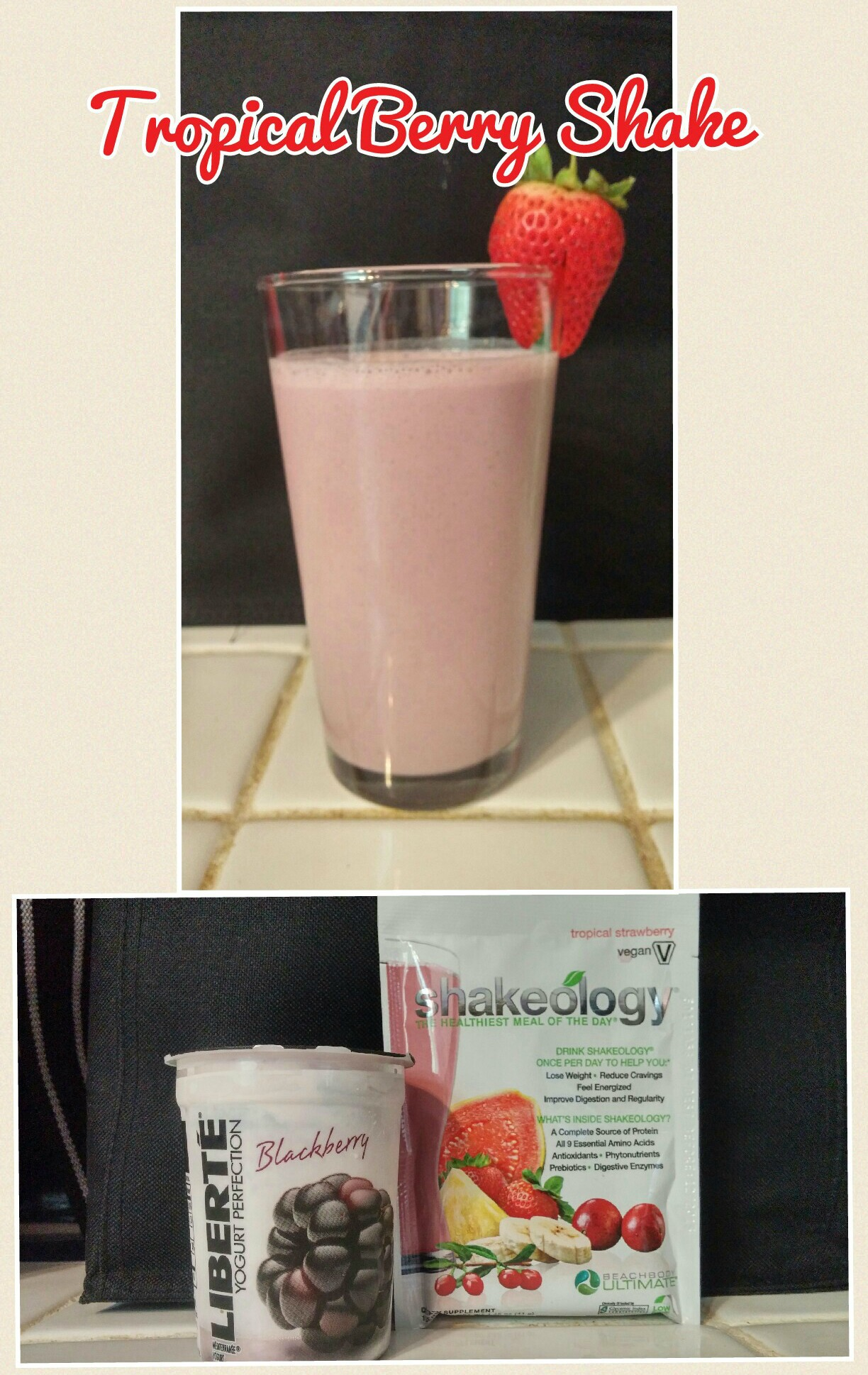 Tropical Berry Shake with Liberté® Méditerranée Yogurt