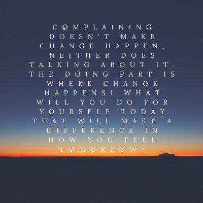 Action Makes Change Happen