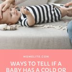 Ways to tell if a baby has a cold or allergies