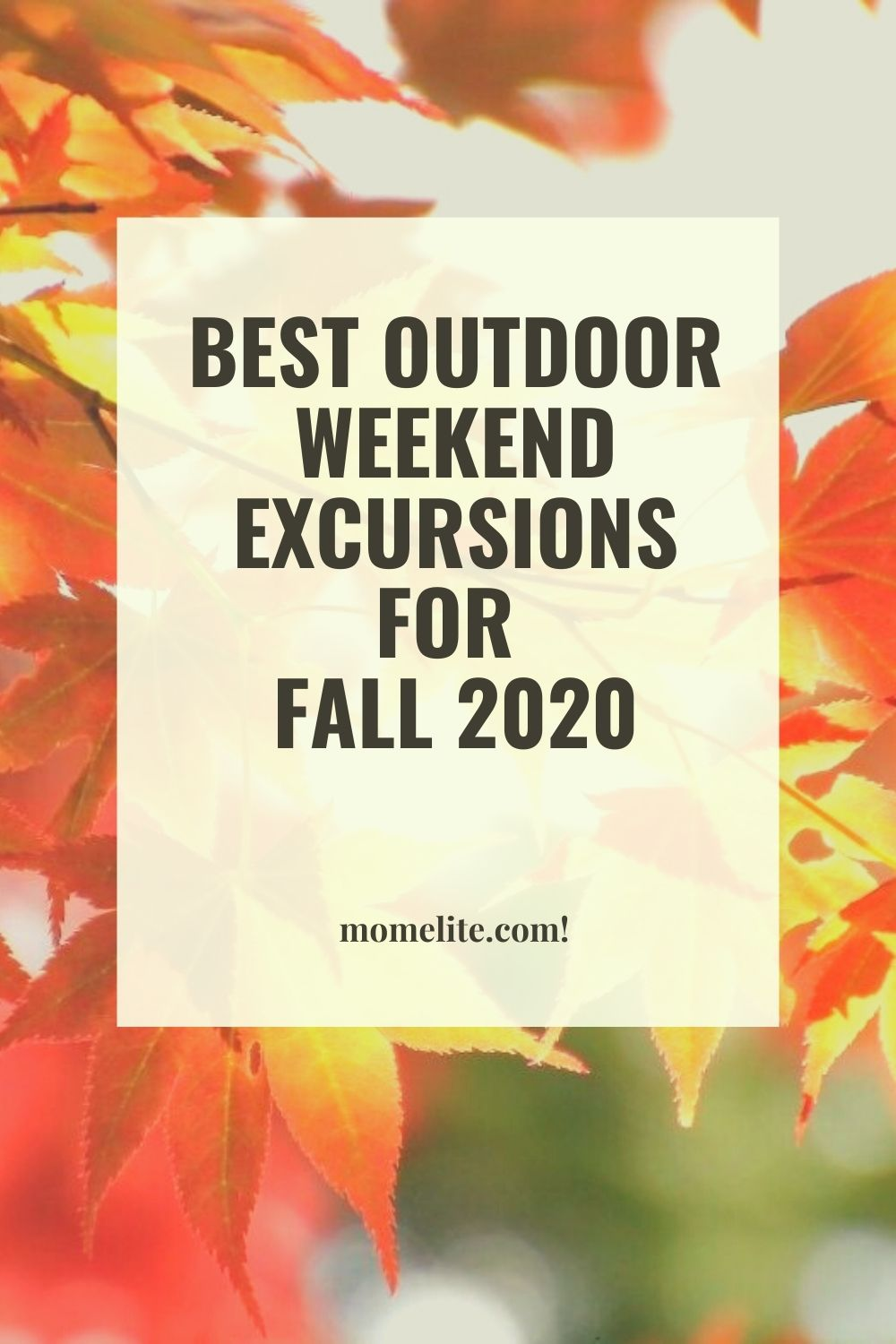 BEST OUTDOOR WEEKEND EXCURSIONS FOR FALL 2020